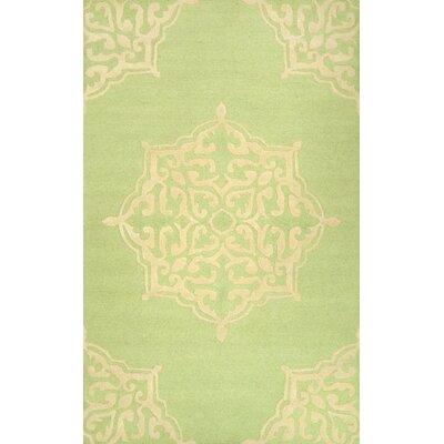 Varanas Hand-Woven Green Area Rug Rug Size: 86 x 116