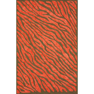 Vista Hand-Hooked Red Area Rug Rug Size: Rectangle 5 x 8
