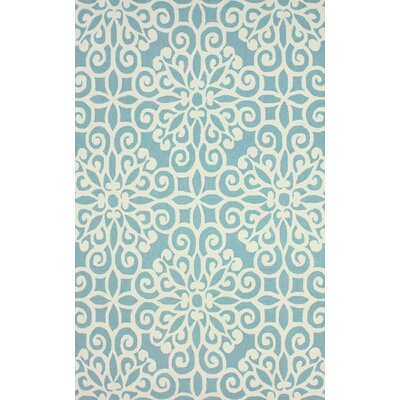 Vista Light Blue Lahoma Rug Rug Size: 7'6
