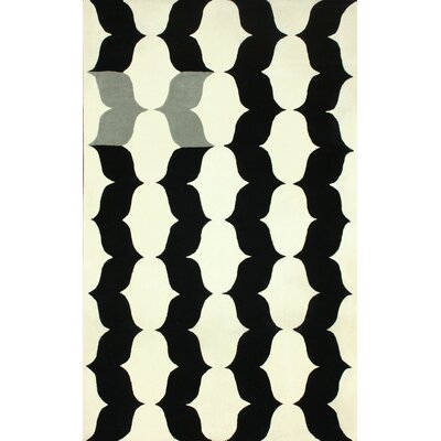 Fragments Black Helio Area Rug Rug Size: 5 x 8