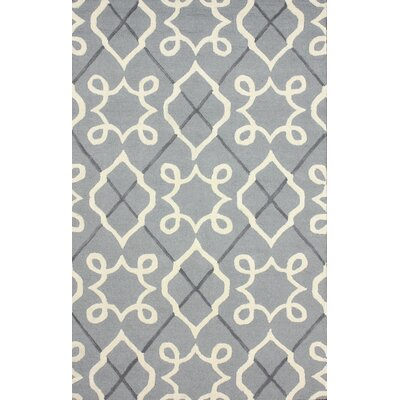 Varanas Hand-Tufted Wool Gray Area Rug Rug Size: Rectangle 5 x 8