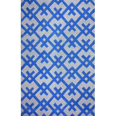 Santa Fe Hand-Woven Blue Area Rug Rug Size: Rectangle 5 x 8