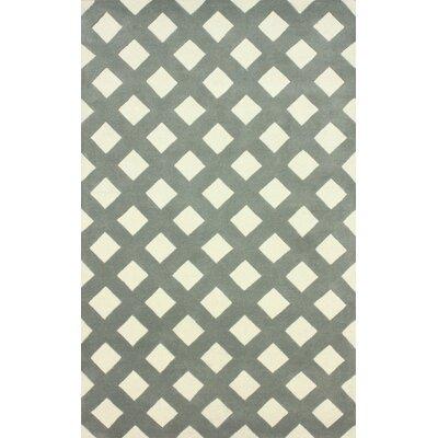 Filigree Slate Ombo Area Rug Rug Size: 86 x 116