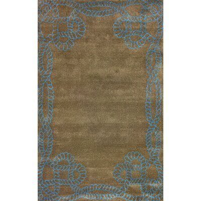 Filigree Brown Marco Polo Area Rug Rug Size: 5 x 8