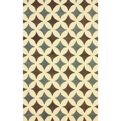 Hacienda Hand-Tufted Wool Beige/Green Area Rug Rug Size: Rectangle 86 x 116