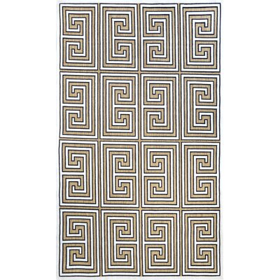Greek Key Austin Machine Made Tan Outdoor Area Rug Rug Size: 77 x 10