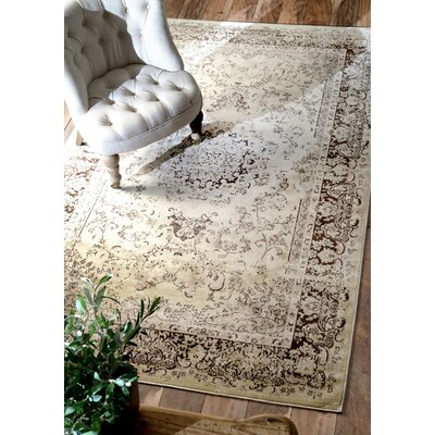 Zyra Brown Area Rug Rug Size: Rectangle 52 x 8