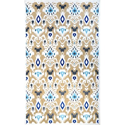 Ikat Charlotte Machine Made Tan Outdoor Area Rug Rug Size: Rectangle 5 x 8