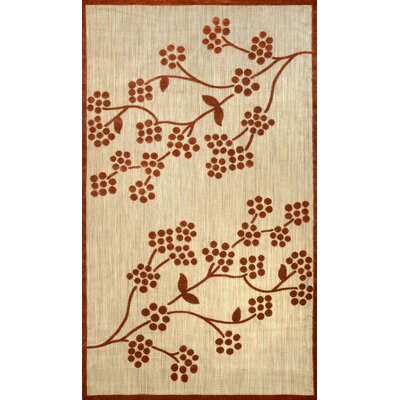 Floral Amber/Terra Indoor/Outdoor Area Rug Rug Size: Rectangle 77 x 10