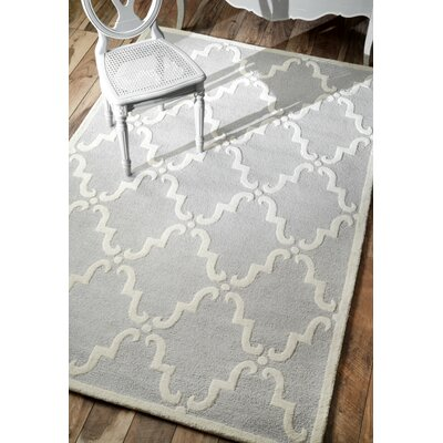 Divina Hand-Tufted Light Gray Area Rug Rug Size: Rectangle 83 x 11