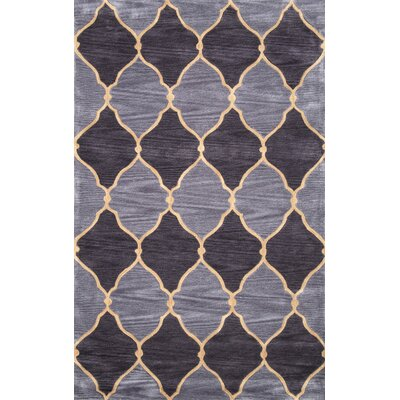Xerath Hand-Tufted Purple/Gray Area Rug Rug Size: Rectangle 76 x 96