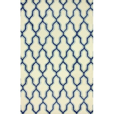 Brook Hand Tufted Blue Area Rug Rug Size: 5 x 8