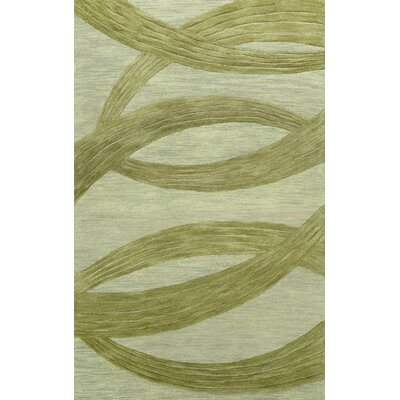 Roxanne Hand-Tufted Wool Sage Area Rug Rug Size: Rectangle 5 x 8