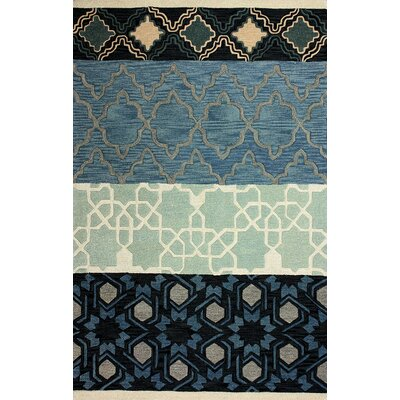 Aubin Hand-Woven Blue Area Rug