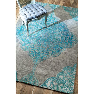 Lobinger Hand-Tufted Gray Area Rug Rug Size: Rectangle 5 x 8