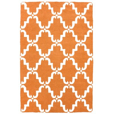 Moderna Pumpkin Trellis Rug Rug Size: Rectangle 76 x 96