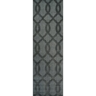 Andre Hand-Woven Wool Gray Area Rug Rug Size: Runner 26 x 8