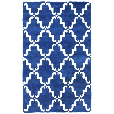 Divina Hand Tufted Blue Area Rug Rug Size: 10 x 14