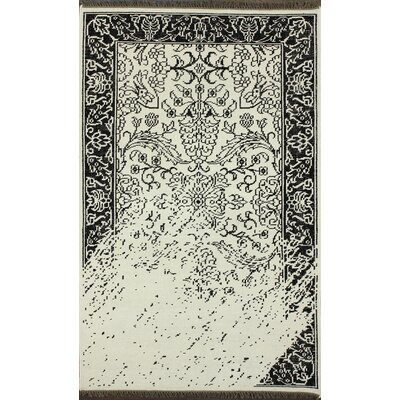 Bristol Hand Knotted White Area Rug Rug Size: 76 x 96