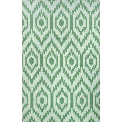 Crete Flatwoven Green Area Rug Rug Size: 5 x 8