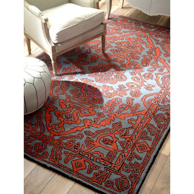 Marcus Hand-Tufted Wool Red Area Rug Rug Size: Rectangle 76 x 96
