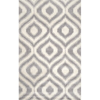 Heyden Hand-Tufted Wool Light Gray Area Rug Rug Size: Rectangle 5 x 8