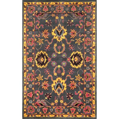 Dennie Orange Area Rug Rug Size: 5 x 8