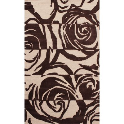 Lovella Hand Tufted Brown Area Rug