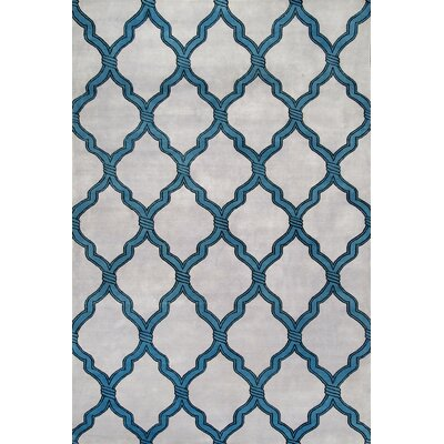 Nepalese Milton Trellis Hand Knotted Gray Area Rug Rug Size: Rectangle 9 x 12