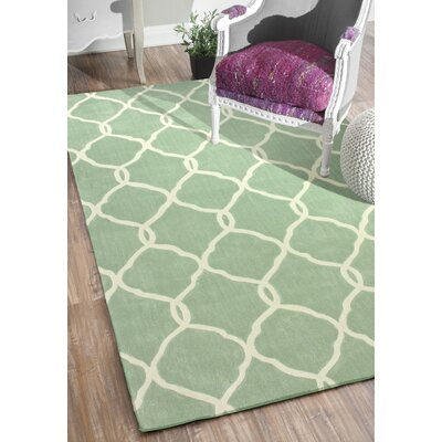 Cine Linx Hand-Tufted Glacier Area Rug Rug Size: Rectangle 76 x 96