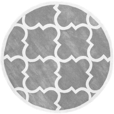 Cine Hand-Tufted Slate Area Rug Rug Size: 76 x 96