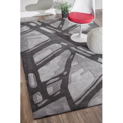 Cine Hand-Tufted Gray Area Rug Rug Size: Rectangle 76 x 96
