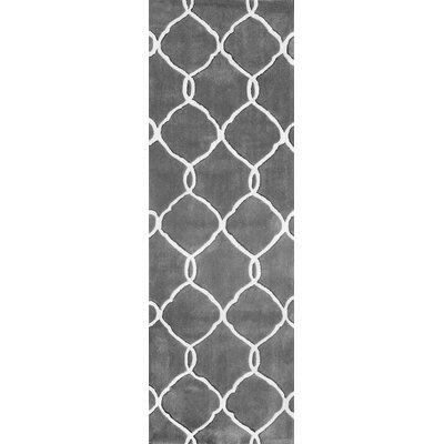 Cine Linked Moroccan Trellis Slate Area Rug Rug Size: Runner 26 x 10