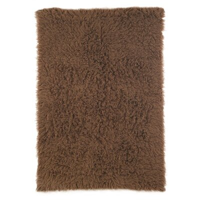 Flokati Chocolate Area Rug Rug Size: Rectangle 5 x 7