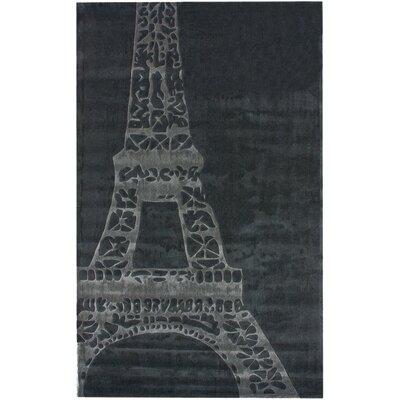 Cine Eiffel Grey Kids Rug Rug Size: 5 x 8