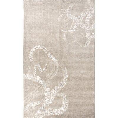 Kyoto Ivory Octo Rug Rug Size: 8'6