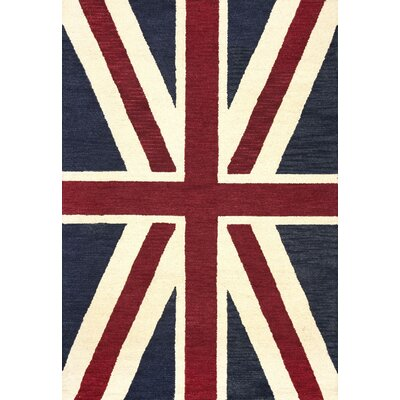 San Miguel Denim Union Jack Rug Rug Size: Rectangle 5 x 76