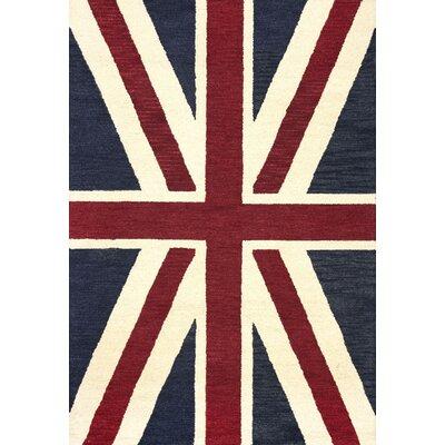 San Miguel Denim Union Jack Rug Rug Size: 5 x 76