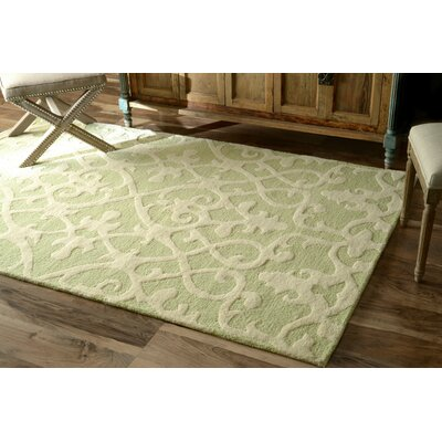 Varanas Hand-Woven Wool Mint Area Rug Rug Size: Rectangle 5 x 8