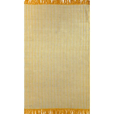 Chindi Yellow Kellore Area Rug Rug Size: 7'6