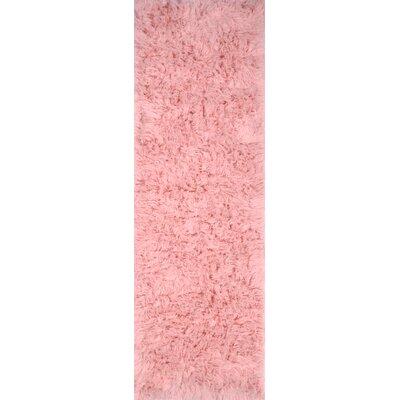 Flokati Rose Dusky Area Rug Rug Size: Runner 26 x 8