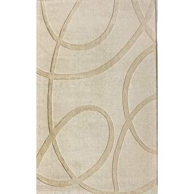 Moderna Hand-Tufted Ivory Area Rug Rug Size: Rectangle 8 x 10