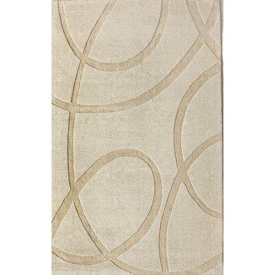 Moderna Hand-Tufted Ivory Area Rug Rug Size: 8 x 10