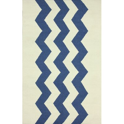 Flatweave Blue Morgan Indoor/Outdoor Area Rug Rug Size: 5 x 8