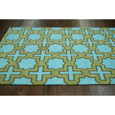 Homestead Nala Hand-Tufted Green/Blue Area Rug Rug Size: 5 x 8