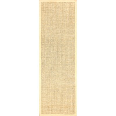 Alhambra Contemporary Sand Area Rug Rug Size: Runner 26 x 12