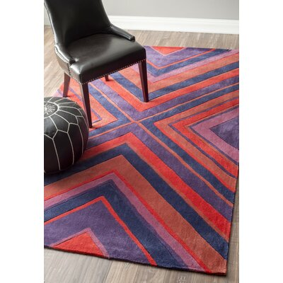 Braum Hand-Tufted Purple/Red Area Rug Rug Size: Rectangle 76 x 96