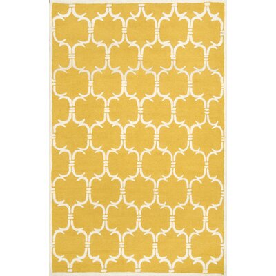 Herville Gold Area Rug Rug Size: 5 x 8