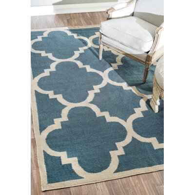 Bevon Hand-Flat Woven Blue Area Rug Rug Size: 5 x 8
