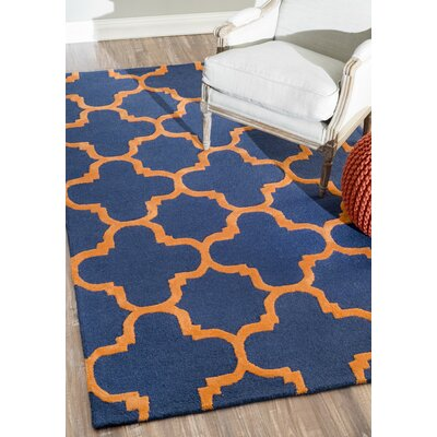 Dragomir Hand-Woven Blue Area Rug Rug Size: Rectangle 76 x 96